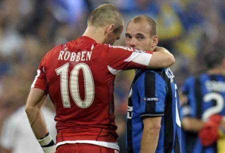 Arjen Robben e Wesley Sneijder (Getty Images)