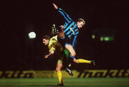Bergkamp ai tempi dell'Inter (Getty Images)