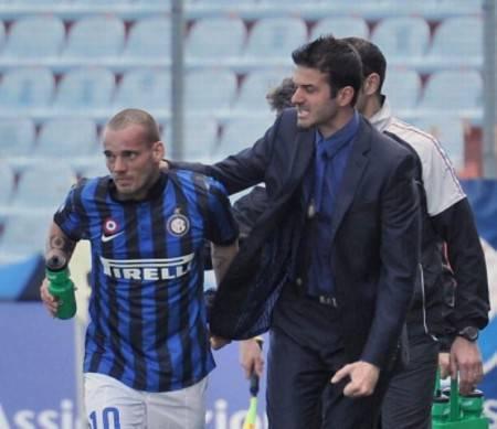Sneijder e Stramaccioni (Getty Images)