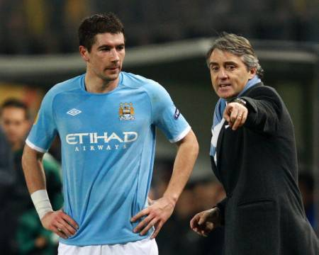 Mancini e Kolarov (Getty Images)