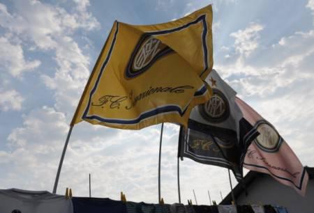 Bandiere dell'Inter a Pinzolo