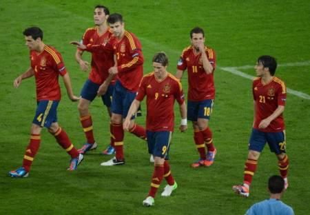 I giocatori della Spagna - Getty Images
