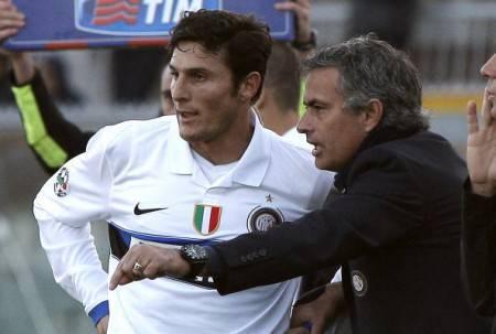 Zanetti e Mourinho (Getty Images)