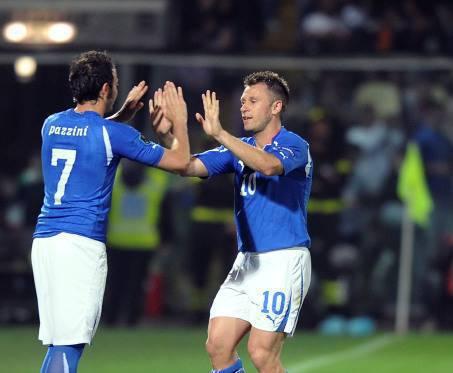 Cassano e Pazzini (Getty Images)