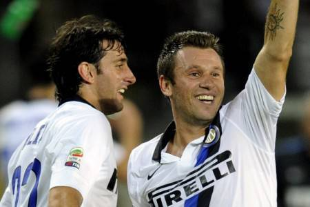 Diego Milito e Antonio Cassano (Getty Images)