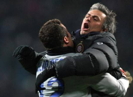 Julio Cesar e Mourinho ai tempi dell'Inter ©Getty Images