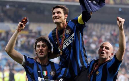 Zanetti, Cambiasso e Milito (Getty Images)