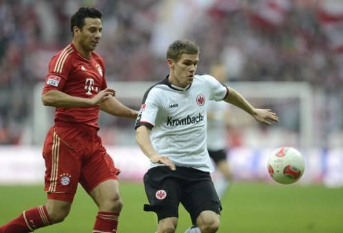 Sebastian Jung con la maglia dell'Eintracht (Getty Images)