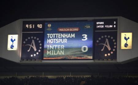 Il tabellone del 'White Hart Lane' (Getty Images)