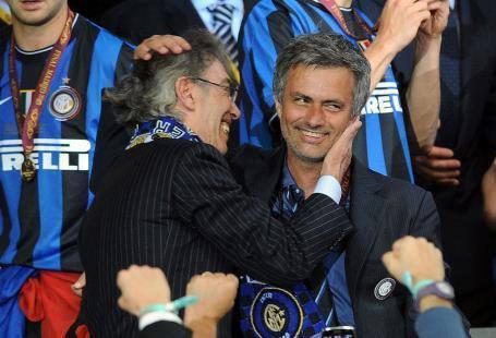 Moratti e Mourinho (Getty Images)