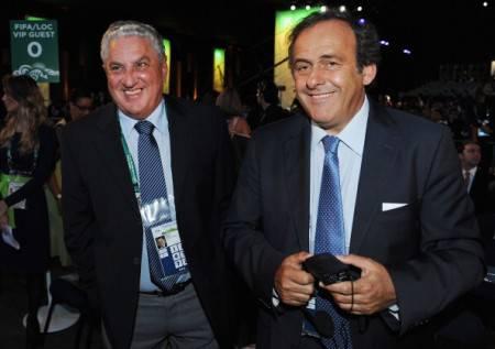 Boyce e Platini, rispettivamente vice e presidente Uefa