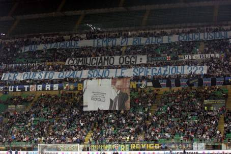 Lo striscione contro Fassone - Getty Images