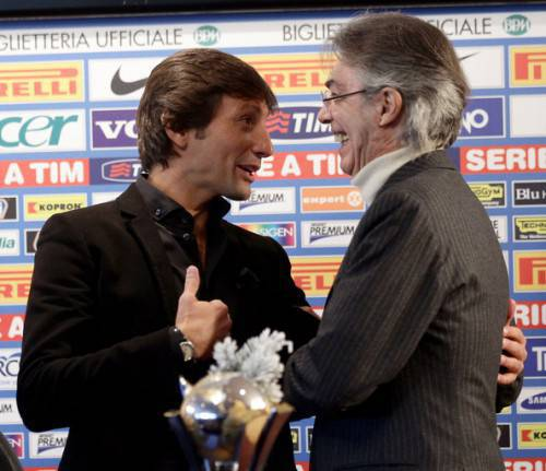 Moratti e Leonardo (Getty Images)