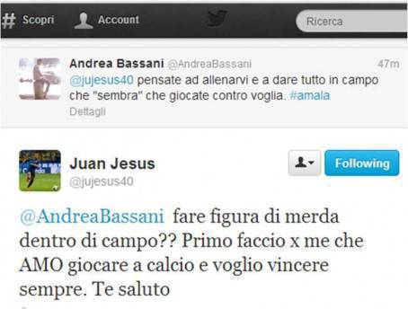 Il Tweet di Juan Jesus