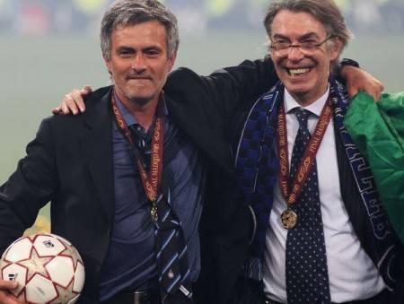 José Mourinho e Massimo Moratti