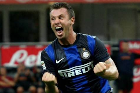 Antonio Cassano ai tempi dell'Inter