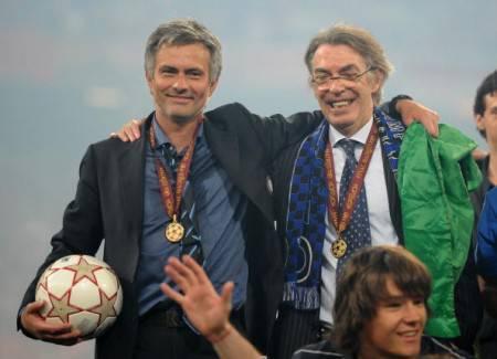 Mourinho e Moratti nel 2010 (Getty Images)