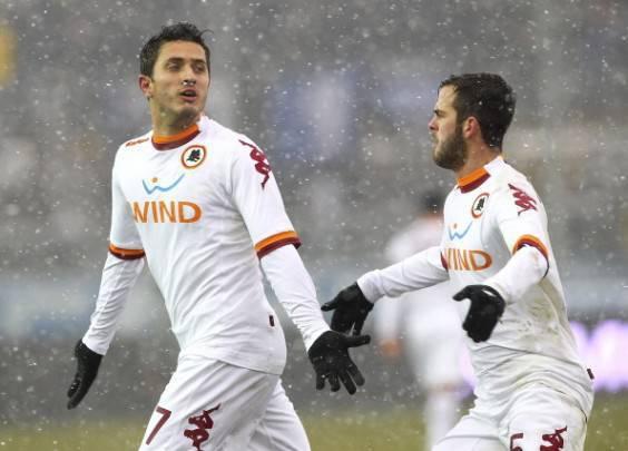 Marquinho con la maglia numero 7 della Roma (Getty Images)