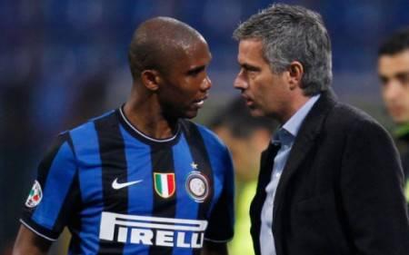Eto'o e Mourinho (Getty Images)