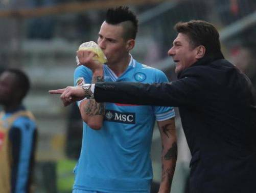 Mazzarri e Hamsik (Getty Images)