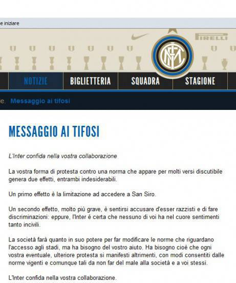 Comunicato Inter