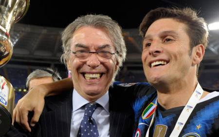 Zanetti e Moratti (Getty Images)