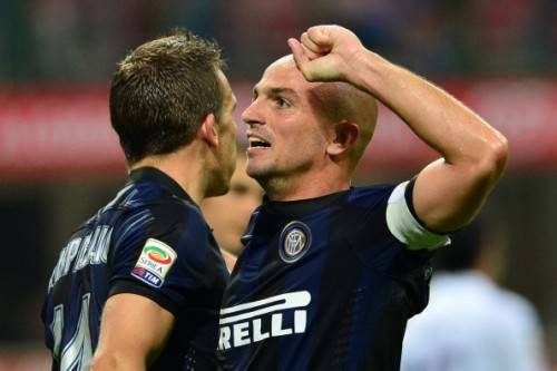 Cambiasso e Campagnaro (Getty Images)