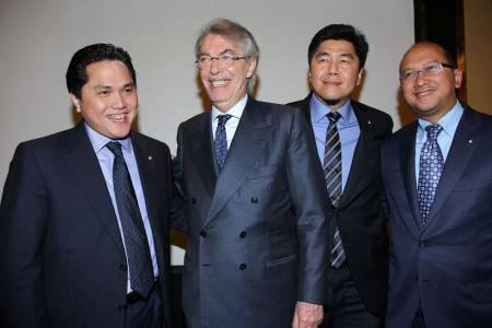 Moratti, Thohir, Roeslani e Soetedjo (Inter.it)