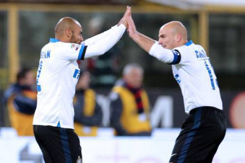 Jonathan e Cambiasso (Getty Images)
