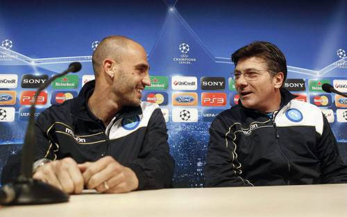 Paolo Cannavaro e Mazzarri (Getty Images)