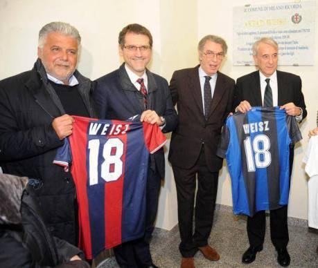 Inter e Bologna ricordano Weisz