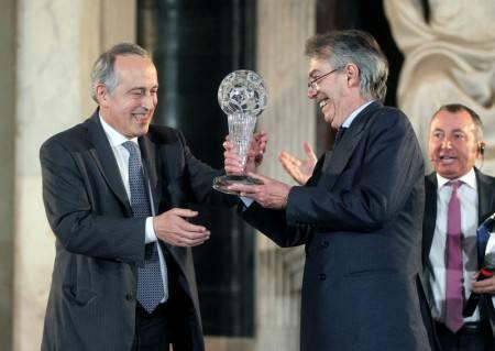 Moratti e Abete (Inter.it)