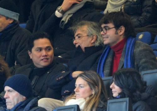 Thohir assieme a Massimo e Angelomario Moratti (Getty Images)