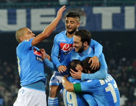 I giocatori del Napoli