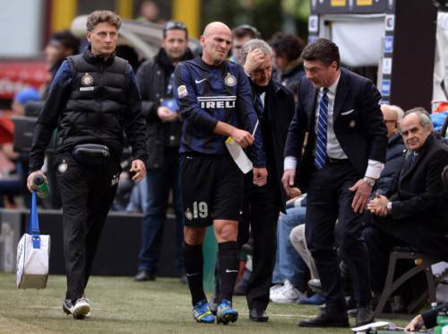 Cambiasso e Mazzarri (Getty Images)