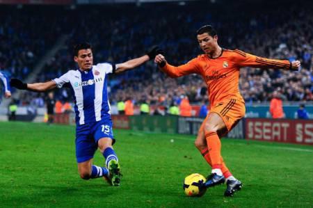 Moreno contro Cristiano Ronaldo (Getty Images)