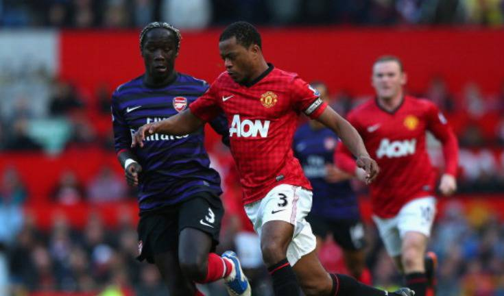 Sagna ed Evra (Getty Images)