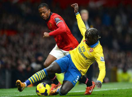 Sagna in contrasto su Evra (Getty Images)