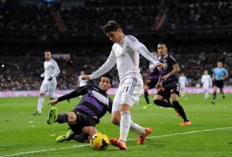 Alvaro Morata in azione