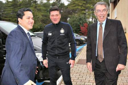 Mazzarri, Thohir e Moratti (Inter.it)