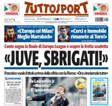 tuttosport 5 Aprile 2014