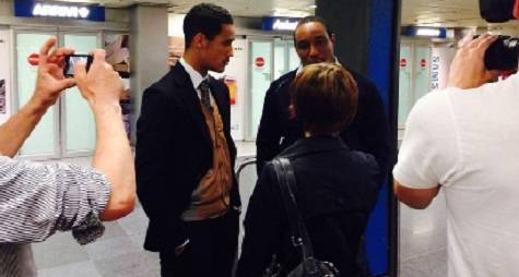 Tom e Paul Ince a Linate (foto sportmediaset)