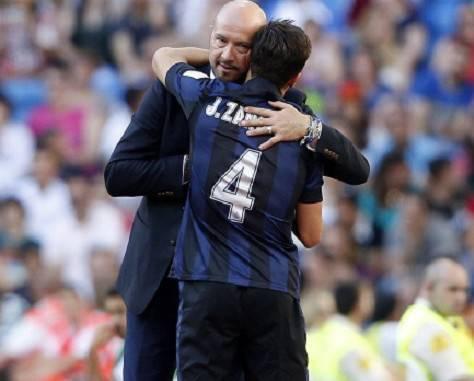 Zenga con Javier Zanetti