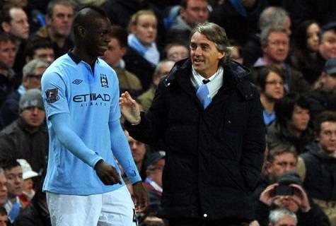 Mancini e Balotelli ai tempi del Manchester City