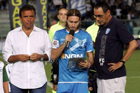 Corsi, Sarri e l'ex capitano dell'Empoli Davide Moro, ora alla Salernitana