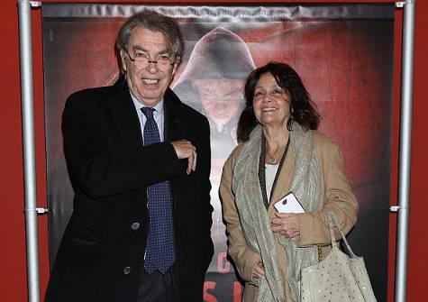 Massimo Moratti con la moglie Milly