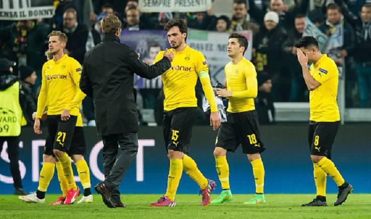 I giocatori del Borussia Dortmund