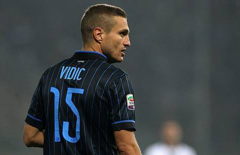 Vidic al primo anno con l'Inter