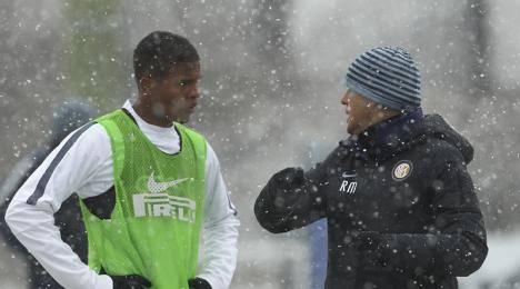 Mancini col giovane Italo
