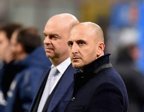Piero Ausilio e, sullo sfondo, Marco Fassone